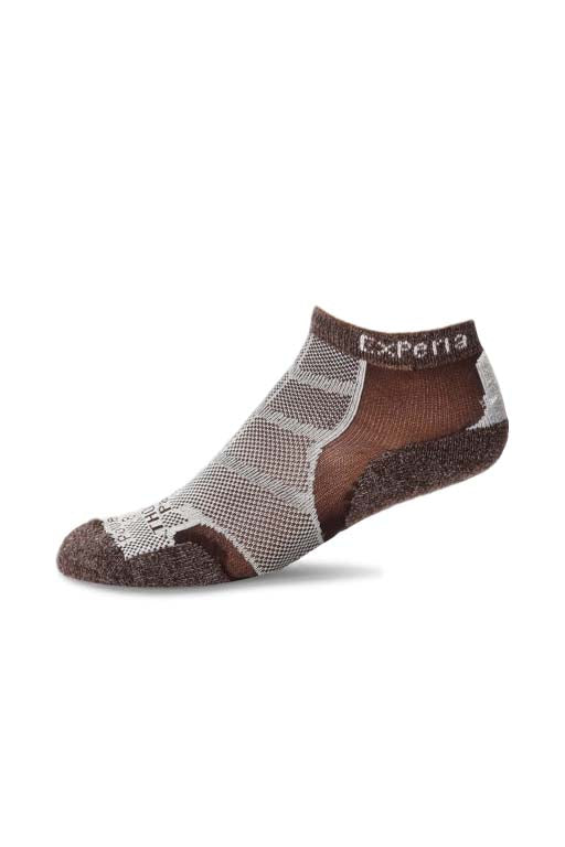 THORLO EXPERIA CHESTNUT BROWN MICRO MINI SOCKS <br> CHESTNUT BROWN