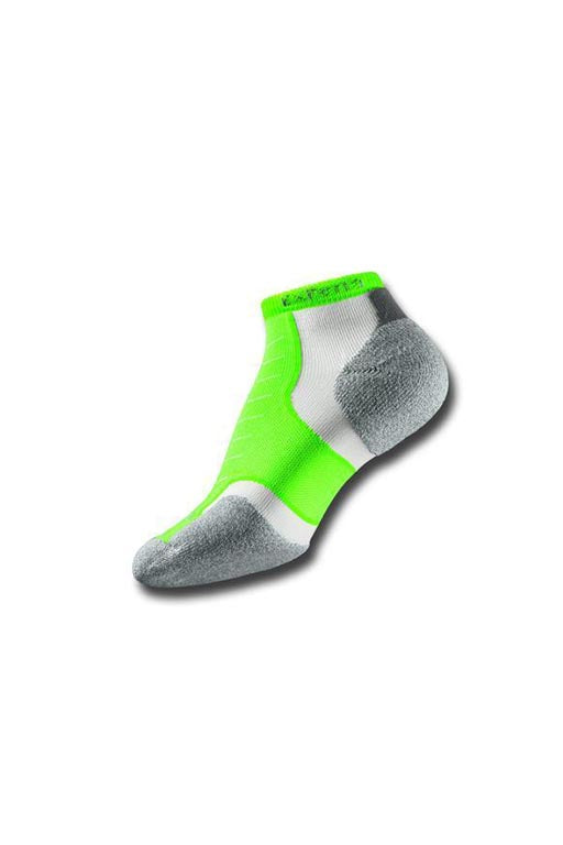 THORLO EXPERIA ELECTRIC GREEN MICRO MINI SOCKS <br> ELECTRIC GREEN