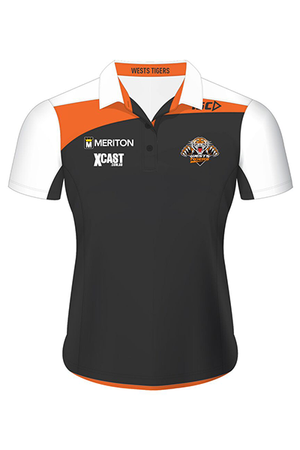 ISC WOMENS WESTS TIGERS POLO <BR> 7WT5POL1L