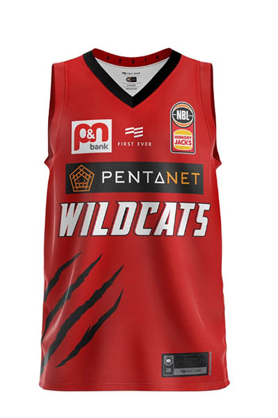 PERTH WILDCATS MENS AUTHENTIC HOME JERSEY (BLANK) <BR> 93MJY054
