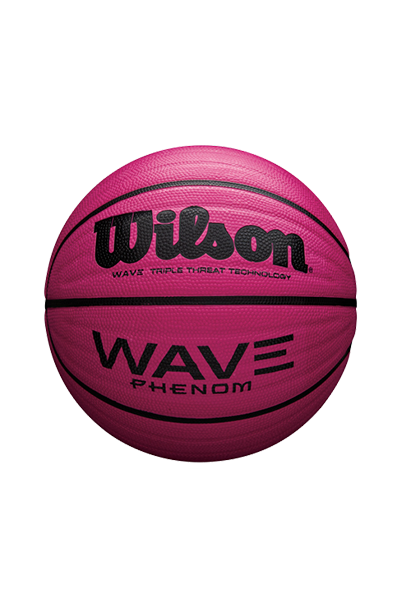 WILSON WAVE PHENON BASKETBALL MANGENTA WITH 2 FREE SPALDING HIGH BOUNCE BALLS <br> 3111,- Jim Kidd Sports