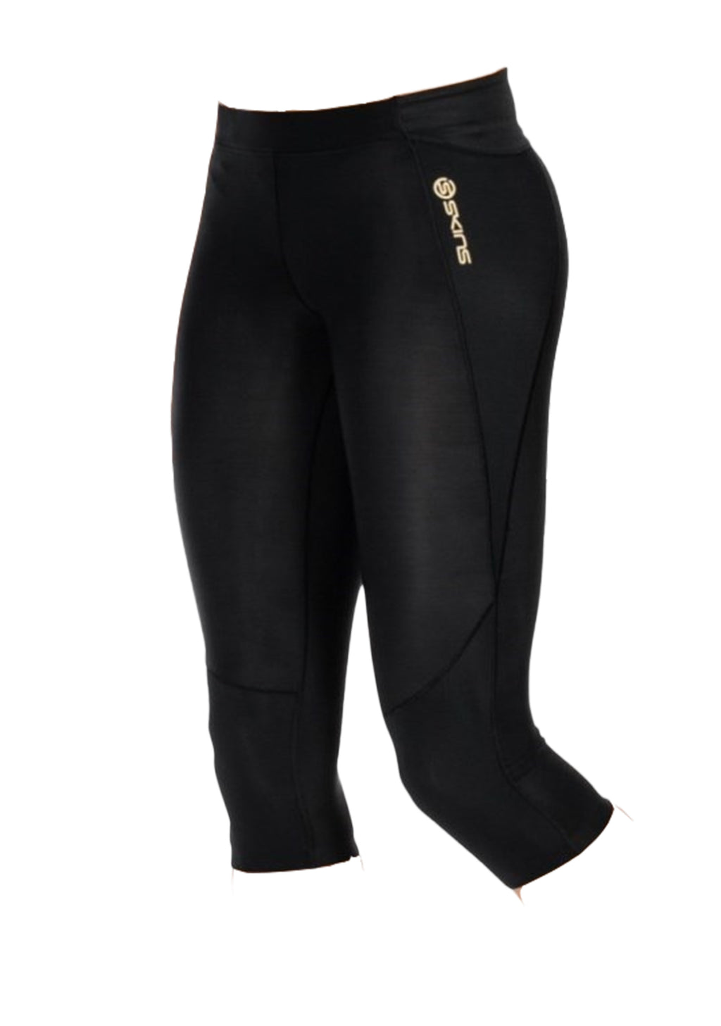 SKINS WOMENS A400 3/4 TIGHT BLACK <BR> B33001020