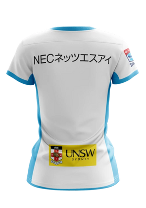 XBLADES WOMENS NSW WARATAHS REPLICA AWAY JERSEY 20 <BR> WAR-RAJ-L20-W WHITE SKY
