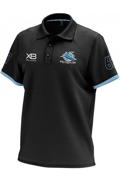 XBLADES CRONULLA SUTHERLAND SHARKS HERITAGE POLO 2018 MENS <br> AP-XB-CRO-HPL-18