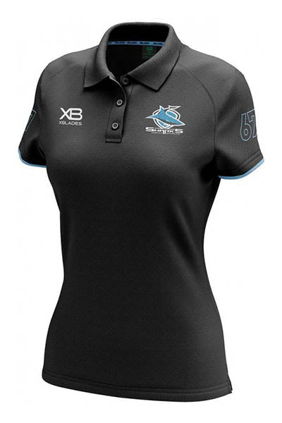 XBLADES CRONULLA SUTHERLAND SHARKS HERITAGE POLO 2018 WOMENS <br> AP-CRO-XB-HPL-18