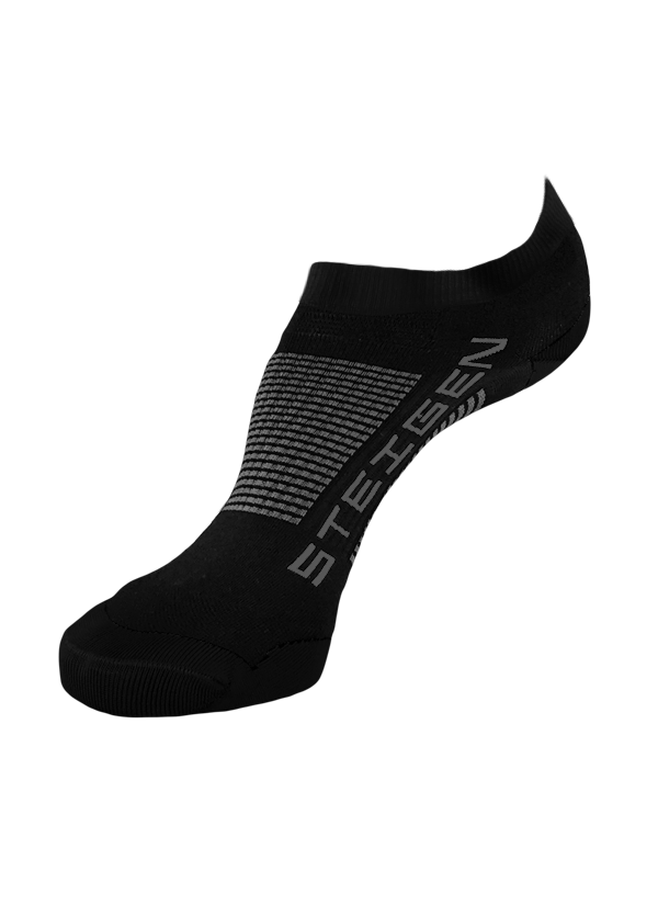 STEIGEN Premium Running Socks - Zero Length<br> Black