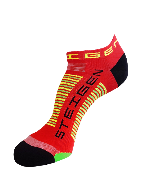 STEIGEN Premium Running Socks - Zero Length<br> Red