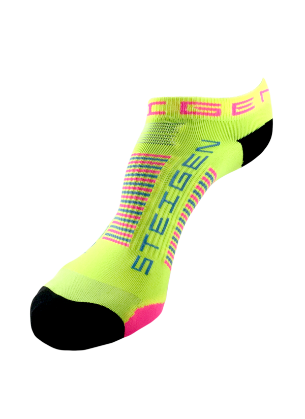 STEIGEN Premium Running Socks - Zero Length<br> Sherbet Yellow