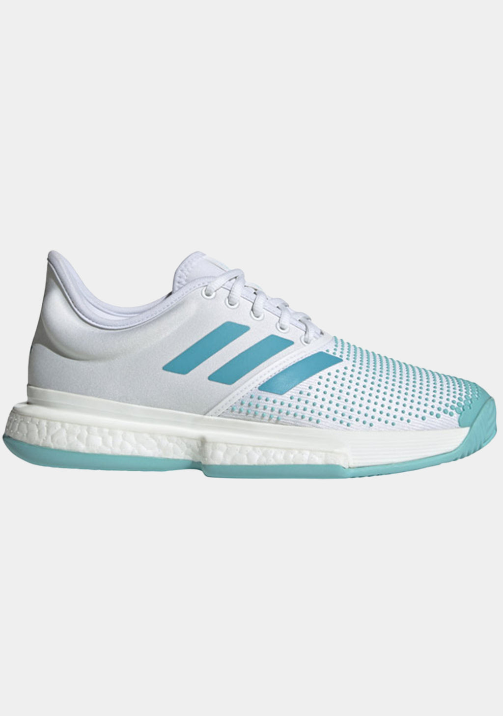 ADIDAS WOMENS SOLECOURT BOOST PARLEY TENNIS SHOES <BR> G26301