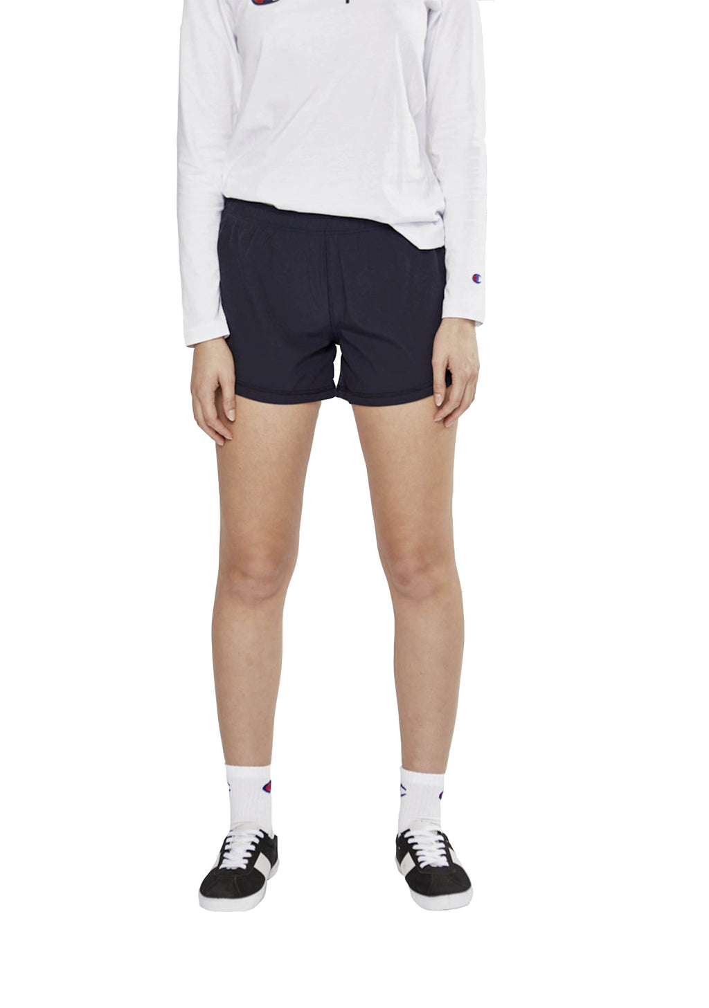 CHAMPION ACTIVE WOVEN SHORT NAVY WOMENS <br> C1221H C0S