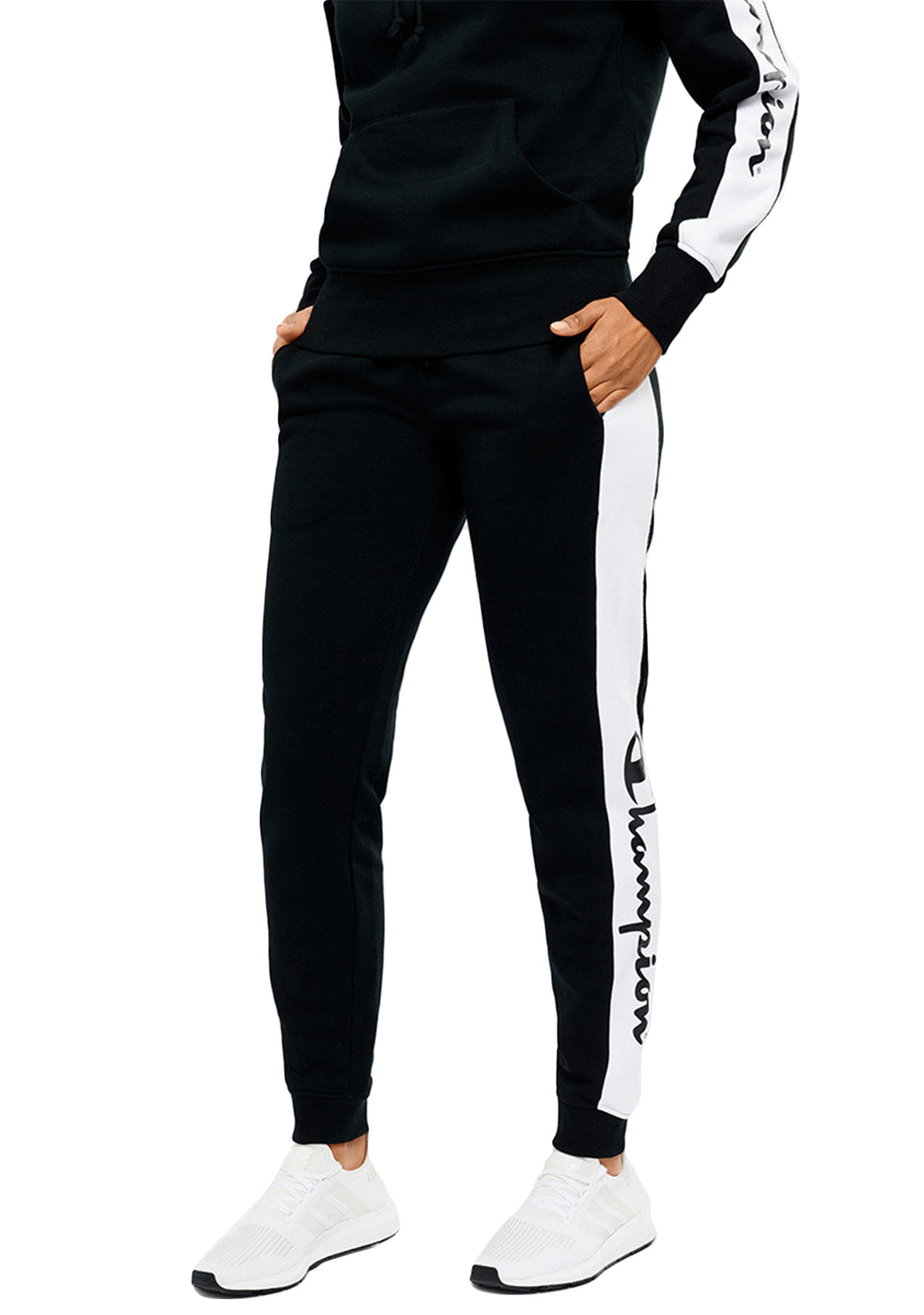 CHAMPION WOMENS SPORTY PANEL PANT <br> CUN3N
