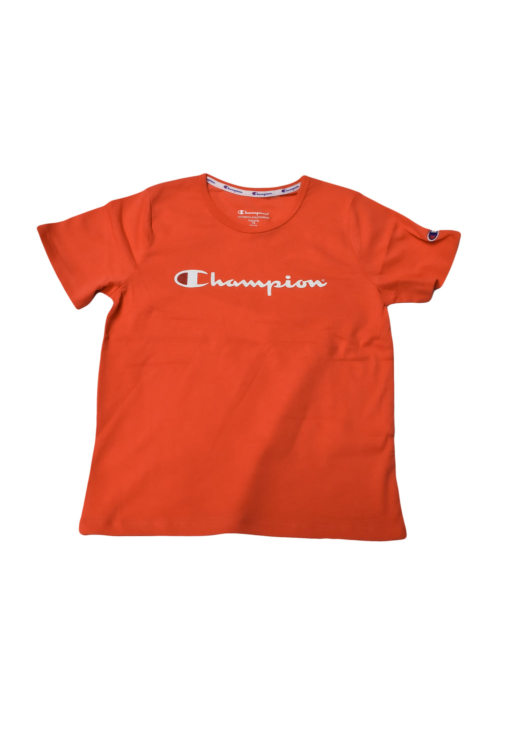 CHAMPION JUNIOR SCRIPT SHORT SLEEVE TEE <br> KXA8N XWP