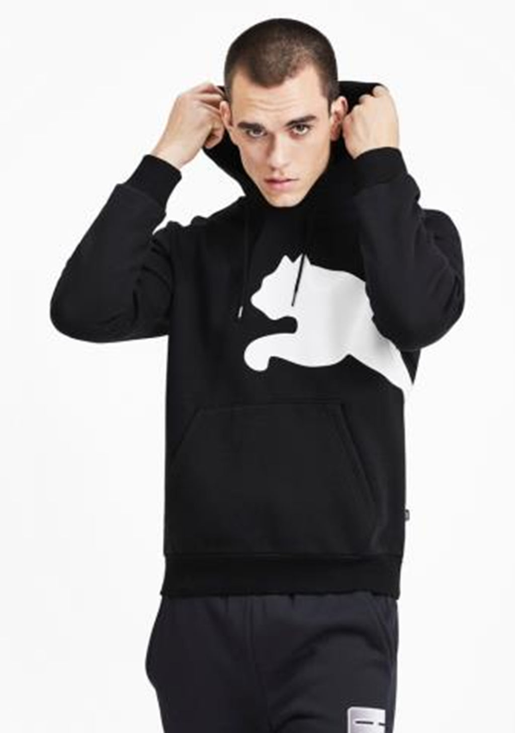 PUMA MENS BIG LOGO GRAPHIC HOODIE MENS <BR> 580565 01