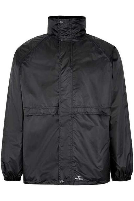 RAINBIRD UNISEX STOWAWAY JACKET <br> 8004 BLACK