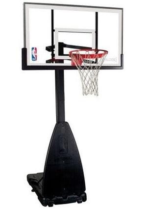 SPALDING 54 INCH TEMPERED GLASS BASKETBALL SYSTEM