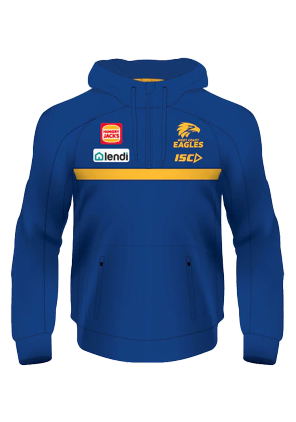 ISC WEST COAST EAGLES 2020 MENS SQUAD HOODIE <BR> WC20HDY01M