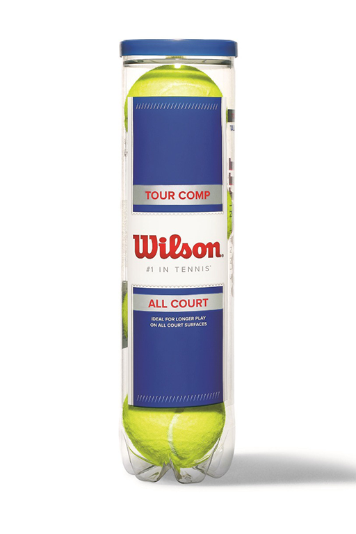 WILSON TOUR COMP 4 BALL CAN TENNIS BALLS