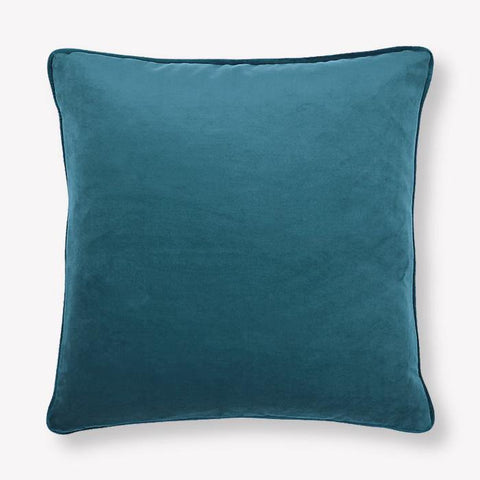 Color Geo Blue Velvet Pillow