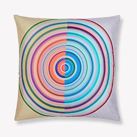 Color Wheel Light Silk Pillow
