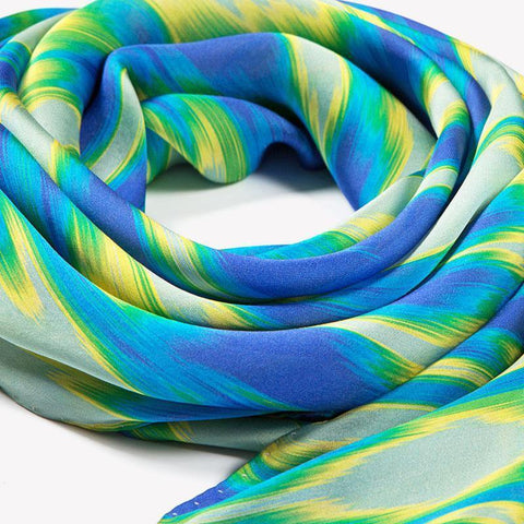 Digital Ikat Silk Scarf