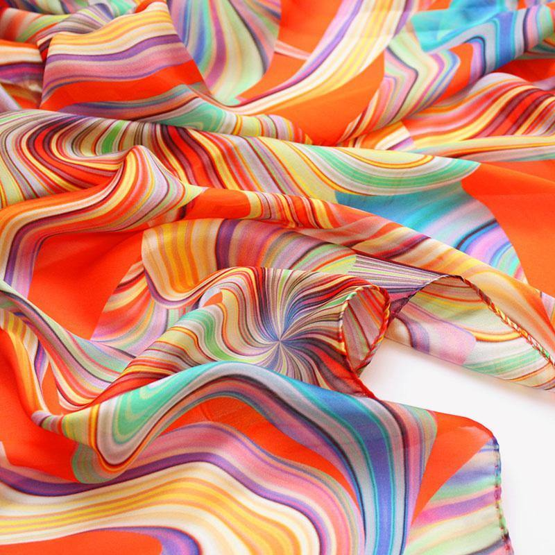 Fusion Orange Silk Scarf