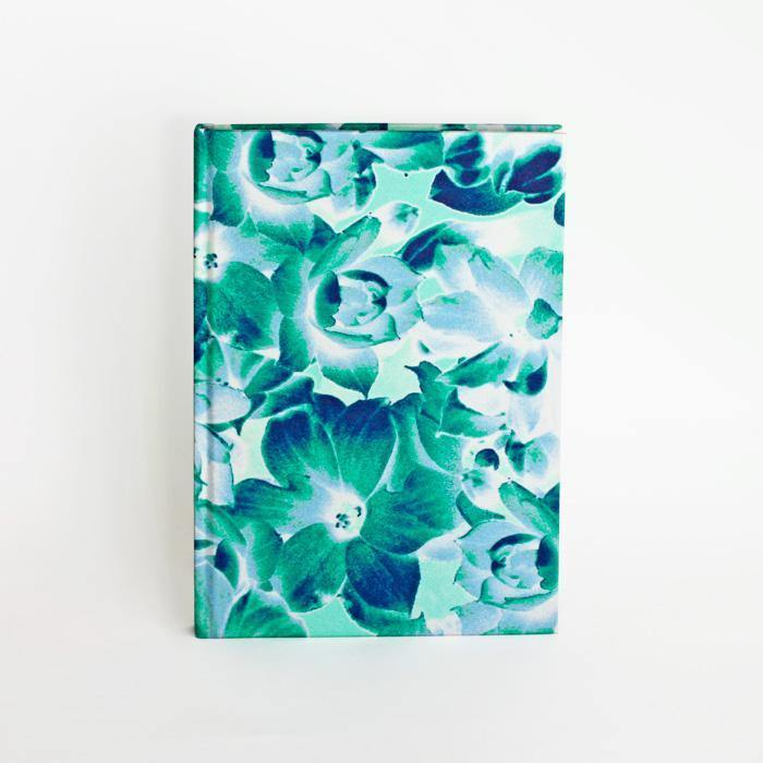 Magnolia Blue A5 Silk Notebook