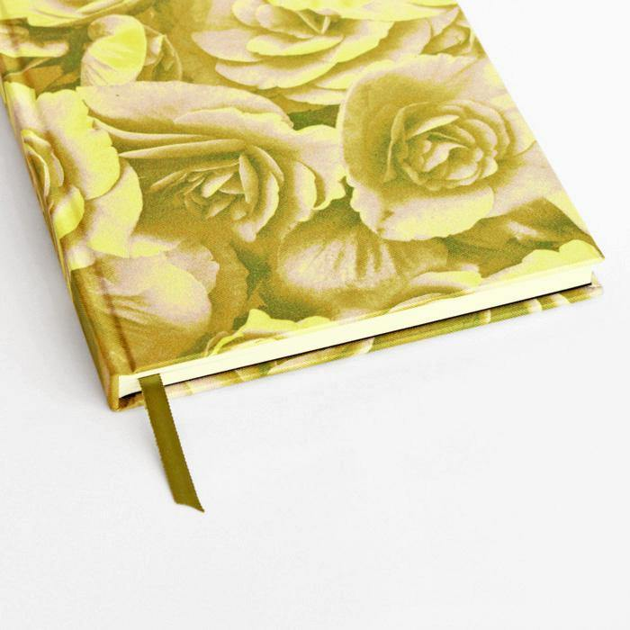 Rose Yellow A5 Silk Notebook