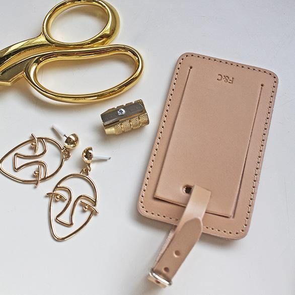 Cream Luggage Tag