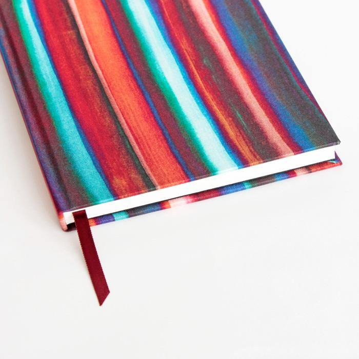 Watercolor Stripes A5 Silk Notebook