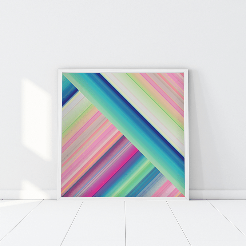 Ana Romero Collection Art Print Cross Stripes Art Print