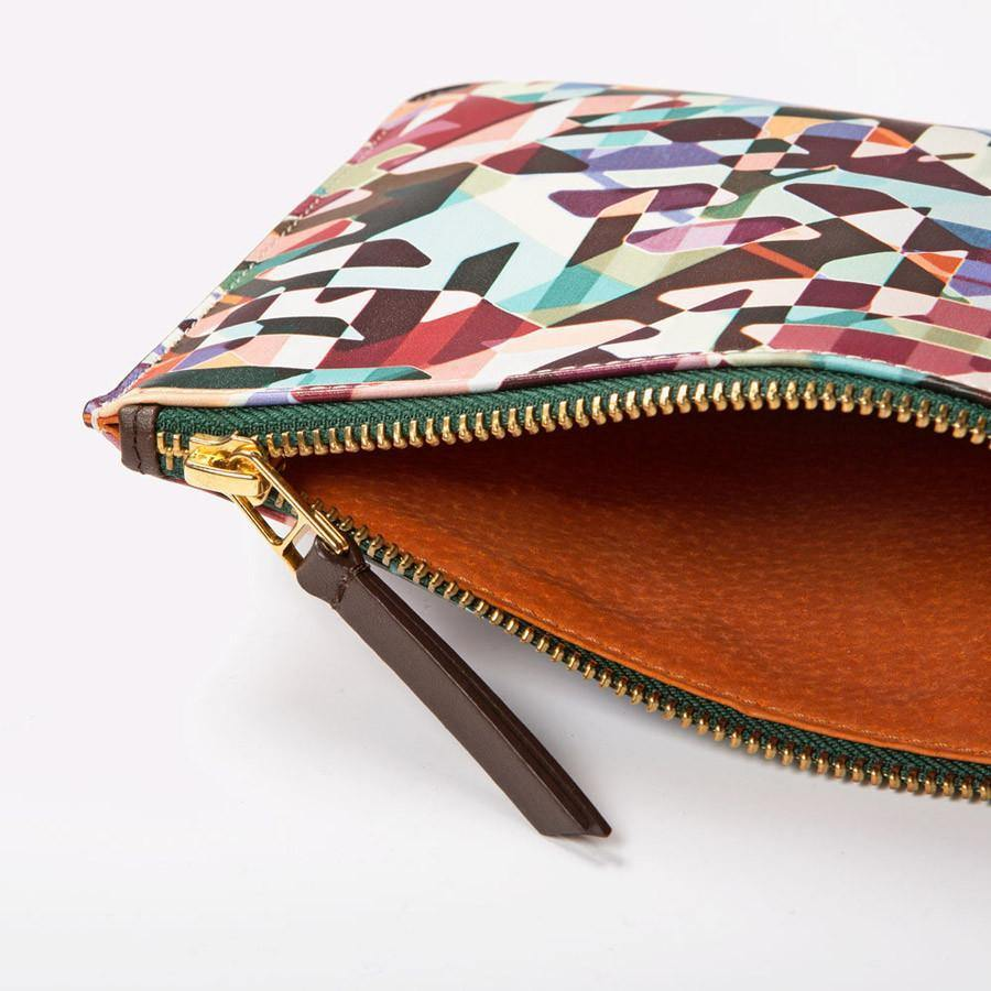 Ana Romero Collection Leather Accessories Kaleidoscope Mini Leather Clutch