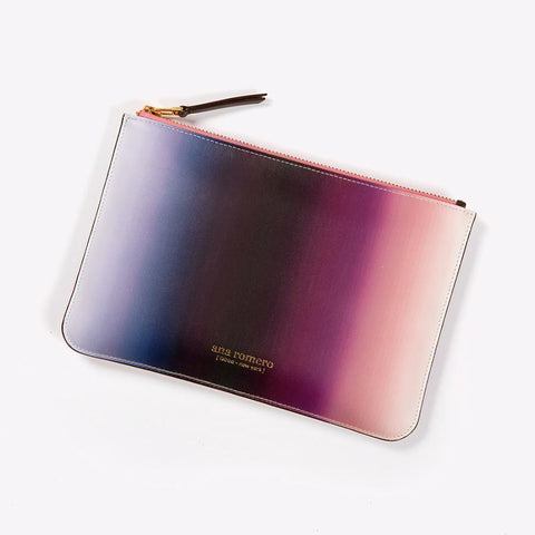 Ana Romero Collection Leather Accessories Ombre Mini Leather Clutch