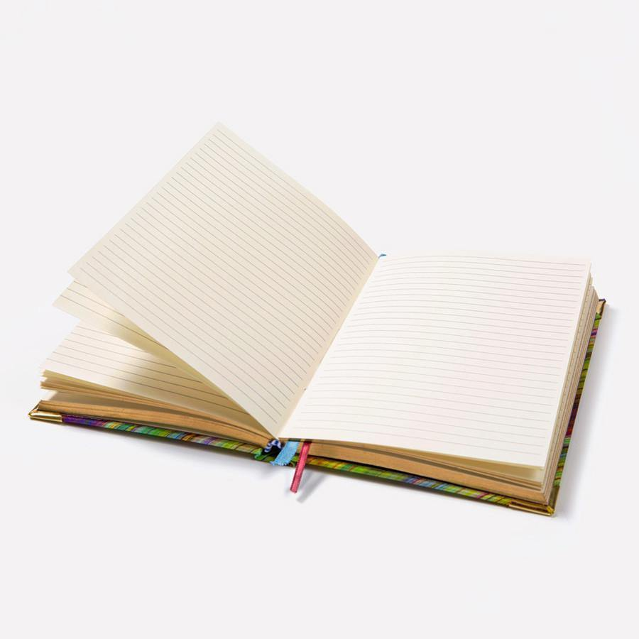 Ana Romero Collection Notebooks Crayons Green A5 Silk Notebook