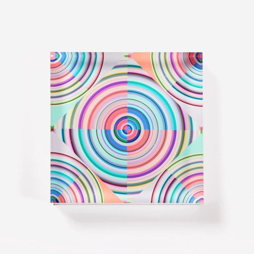 Ana Romero Collection Paperweight Optical Target Acrylic Paperweight