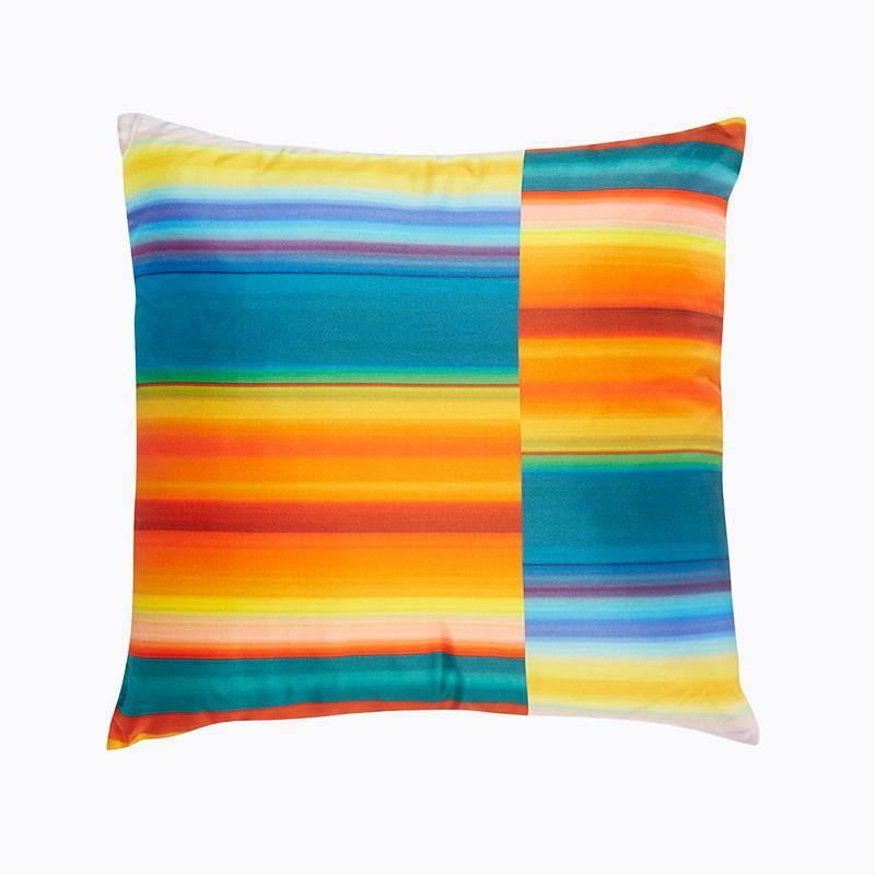 Ana Romero Collection Pillows Color Landscape II Silk Pillow
