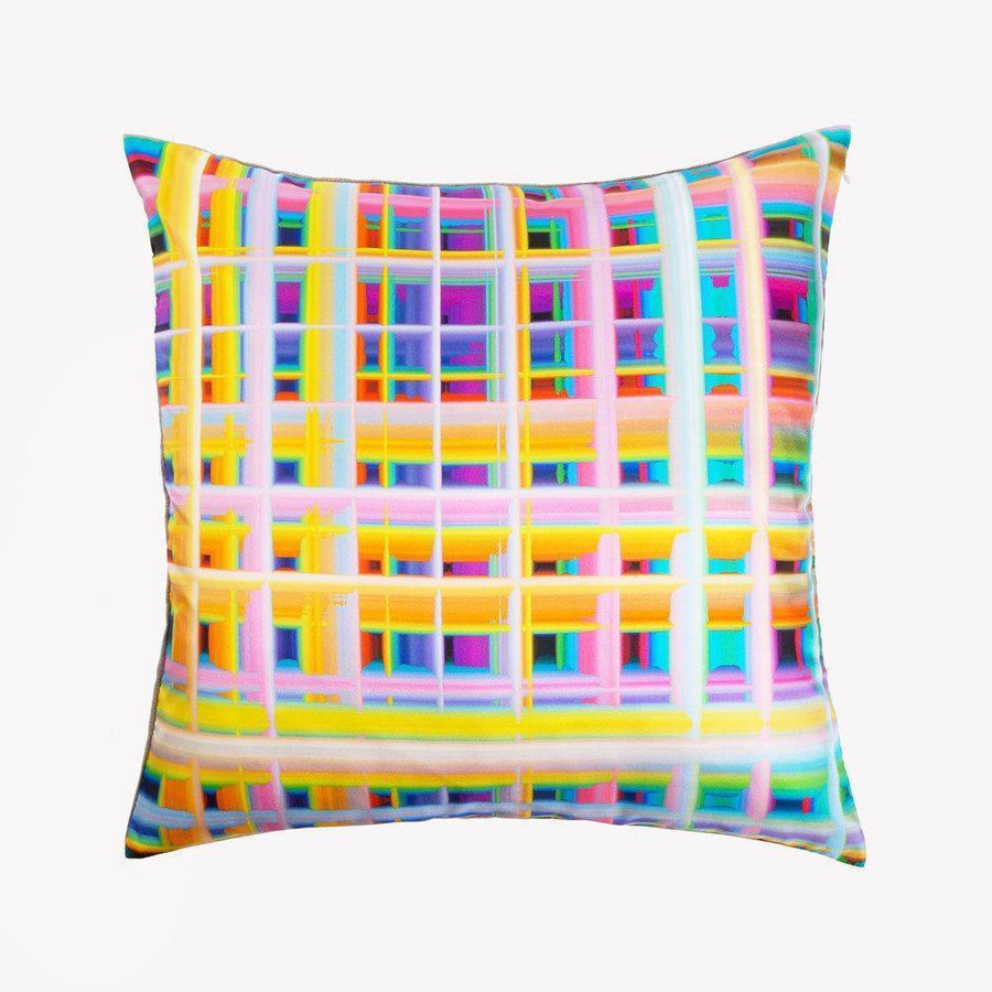 Ana Romero Collection Pillows Grid Silk Pillow