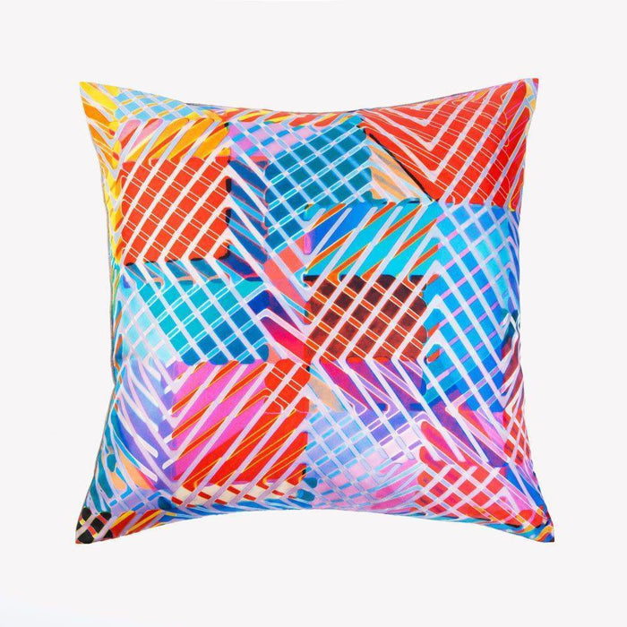 Ana Romero Collection Pillows Neon Jungle Red Silk Pillow