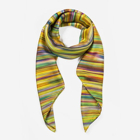 Ana Romero Collection Scarves Diamond Crayons Silk Scarf