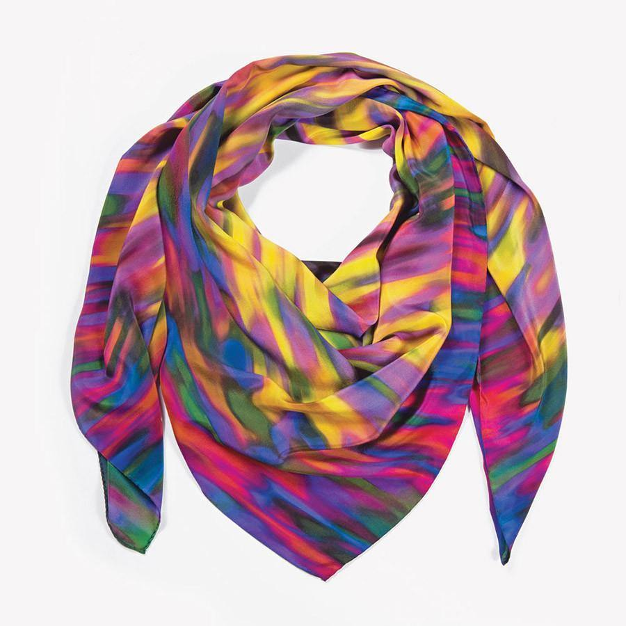 Ana Romero Collection Scarves Flames Silk Scarf
