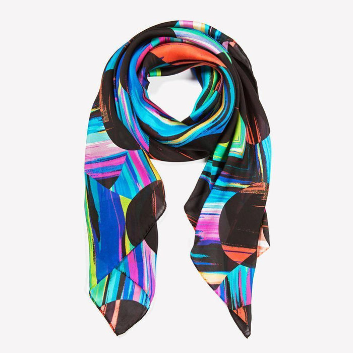 Ana Romero Collection Scarves Polka Dot Diamond Silk Scarf