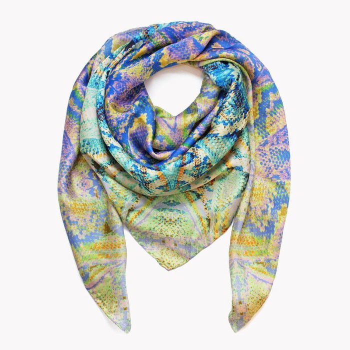 Ana Romero Collection Scarves Snake Skin Silk Scarf