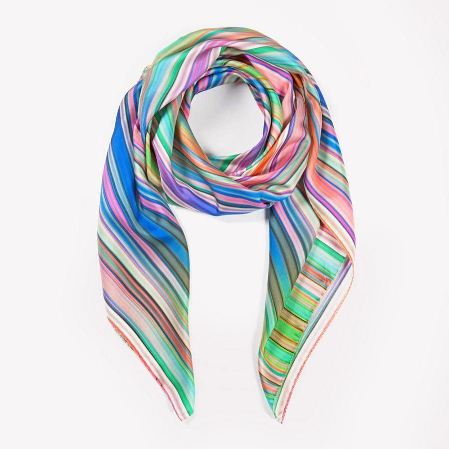 Ana Romero Collection Scarves Technicolor Silk Scarf