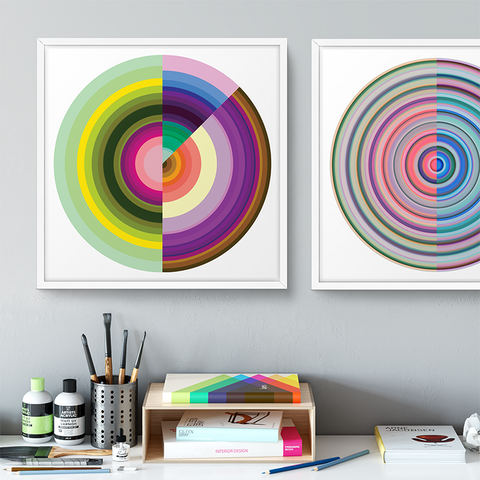 Technicolor by Ana Romero Art Print Color Wheel Art Print