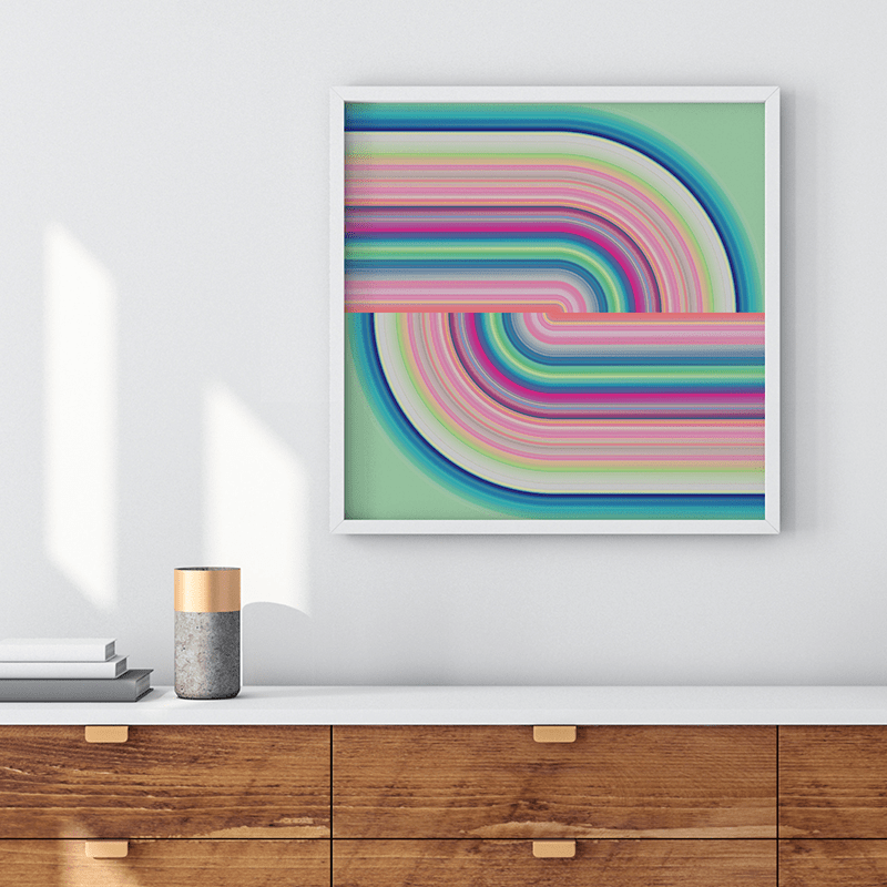 Technicolor by Ana Romero Art Print Knot Art Print