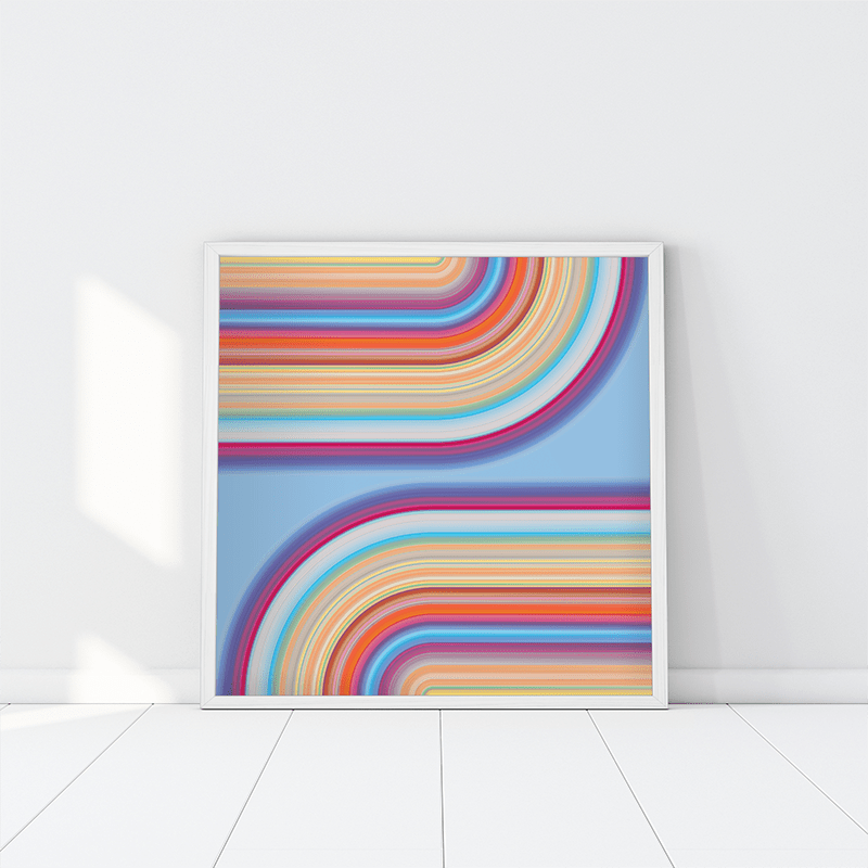 Technicolor by Ana Romero Art Print Loop Art Print