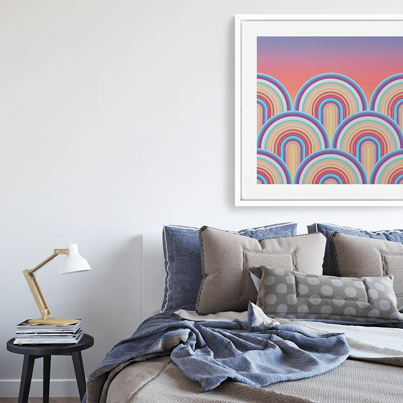 Technicolor by Ana Romero Art Print Scalloped Sunset Art Print