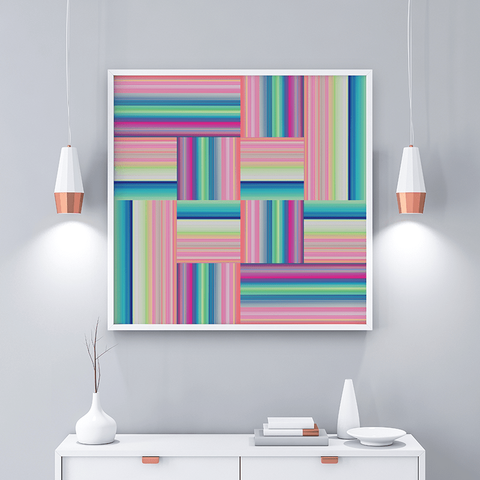 Technicolor by Ana Romero Art Print Weaved Stripes Art Print