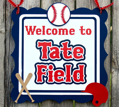 Baseball Door Sign