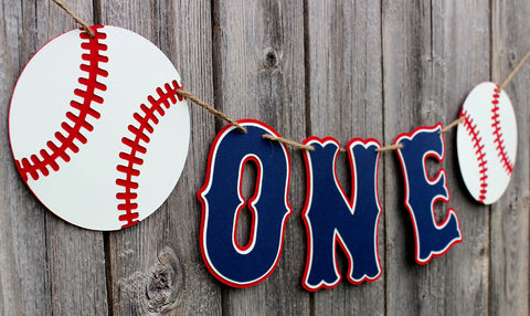 Baseball High Chair Banner