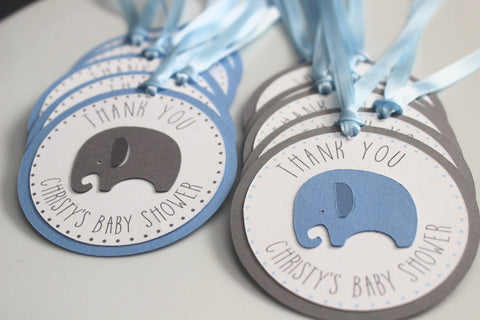 Elephant Favor Tags • Ships Next Day